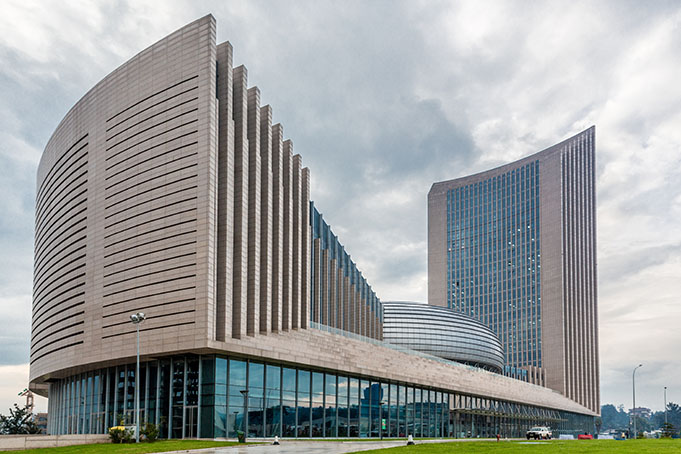 African Union Building in Addis Ababa